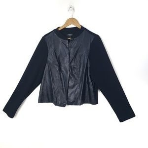 Torrid Open Front Jacket With Pleather Panels
